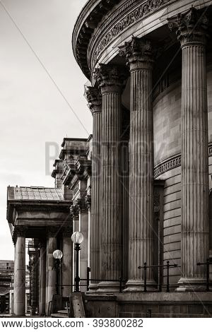 Liverpool Walker Art Gallery historical buildings closeup in England in United Kingdom