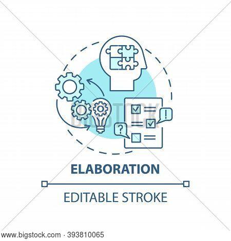 Elaboration Concept Icon. Creative Thinking Skills. Interesting Variety Things Creation. Brain Creat