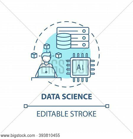 Data Science Concept Icon. Top Careers In It For Creative Thinkers. Future Software Engineering Idea