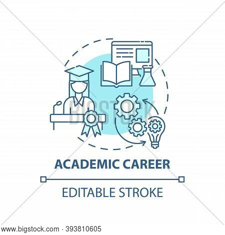 Academic Career Concept Icon. Top Careers For Creative Thinkers. Getting Interesting Work Place. Fut