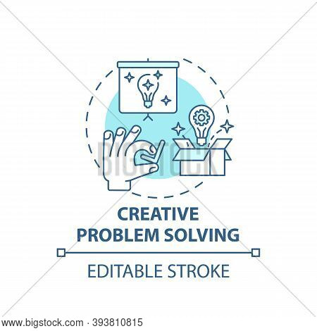 Creative Problem Solving Concept Icon. Creative Thinking Types. Dealing With Different Troubles. Cha