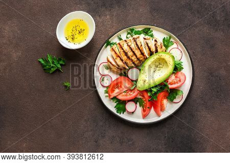 Healthy Lunch With Grilled Chicken