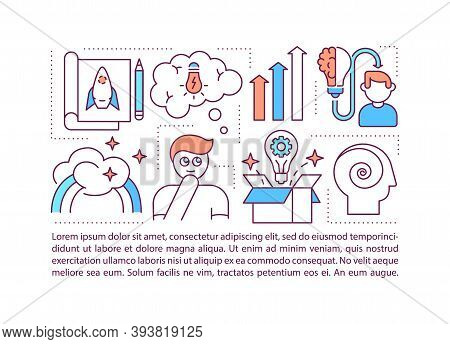 Creative Thinking Concept Icon With Text. Cognition Skills. Problem-solving Ability. Ppt Page Vector