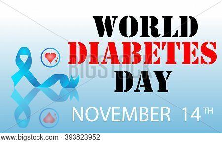 World Diabetes Day November 14th Vector Banner Or Poster Design