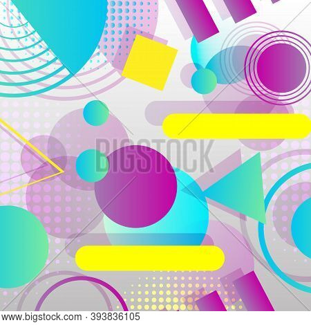 Abstract Geometric Background Design. Modern Composition With Geometric Shapes. Trendy Geometric Bac