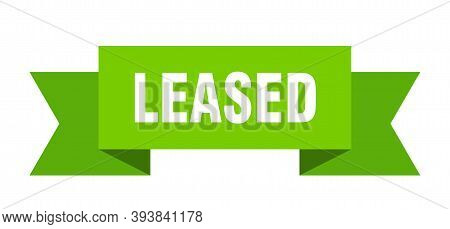 Leased Ribbon. Leased Paper Band Banner Sign