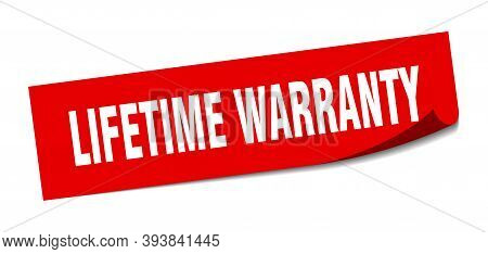 Lifetime Warranty Sticker. Lifetime Warranty Square Isolated Sign. Lifetime Warranty
