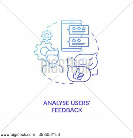 Analyse Users Feedback Concept Icon. App Marketing Tips. After Using Your Digital Project Emotions A