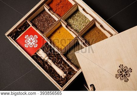 Indian Seasonings And Herbs, Top View Spice