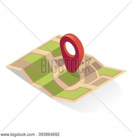Map Pin. Gps Icon. Location Pointer, Indicator. Destination, Position. Pinpoint.