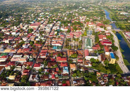 Historic Colonial Town In Spanish Style Vigan. Historic Buildings In Vigan City, Unesko World Herita
