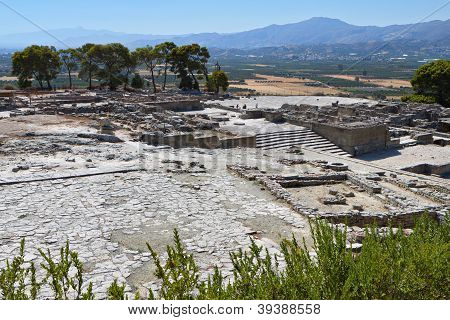 Ancient Phaestos at Crete, Greece
