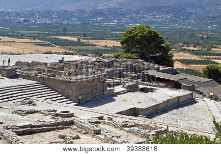 Antigua Festos en Creta, Grecia