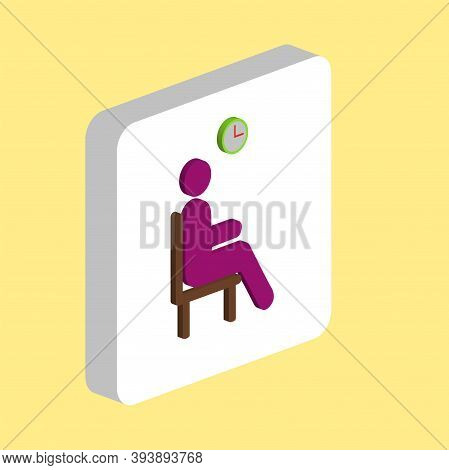 Waiting Simple Vector Icon. Illustration Symbol Design Template For Web Mobile Ui Element. Perfect C