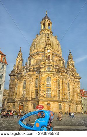 Dresden, Germany 25.03.2015  The Dresden Frauenkirche ( Literally Church Of Our Lady) Is A Lutheran