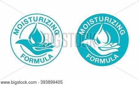 Skin Moisturizing Anti-age Formula Pictogram - Emblem For And Anti Wrickles Cosmetics Marking - Wate