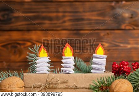 Diy Christmas Candle Paper Craft. Christmas Craft Step By Step Instructions. Step 12. Children Craft