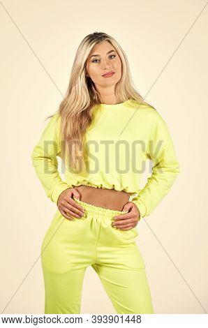 Gym Fashion. Trendy Sportswear. Sport Style. Fitness Woman Wear Sportswear. Comfy Style For Daily Li