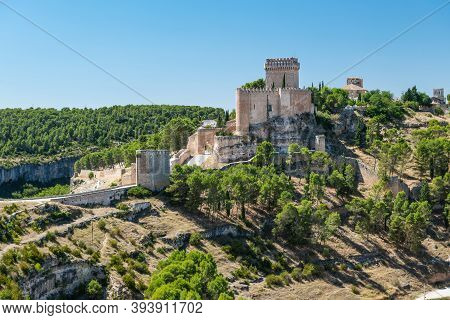 Castle And Fortified Medieval Town Of Alarcon In Cuenca, Castilla-la Mancha, Surrounded By The Jucar