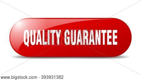 Quality Guarantee Button. Quality Guarantee Sign. Key. Push Button.