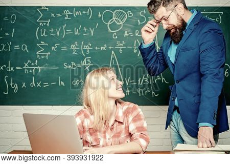 Nerd Funny Student Preparing For University Exams. Students Campus Education Knowledge Concept. Bear