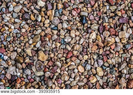 Abstract Nature Pebbles Background. Pebbles Texture. Stone Background. Sea Pebbles Beach. Beautiful