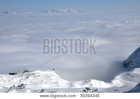 Ski Resort In The Austrian Alps