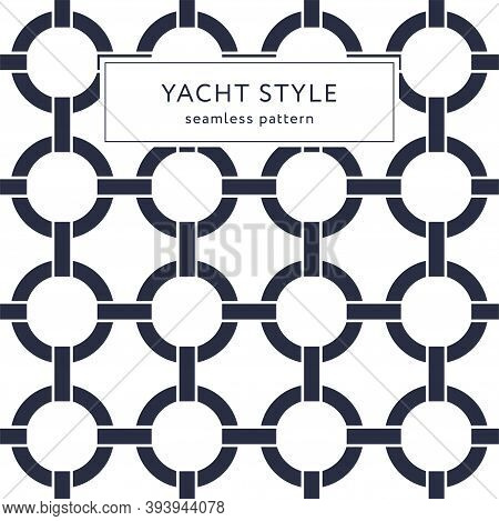 Geometric Elegant Seamless Pattern With Circles. Yacht Style Design. Abstract Decorative Background.