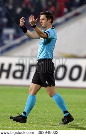 Sofia, Bulgaria - 22 October, 2020: Referee Halil Umut Mele In Action During The Uefa Europa League