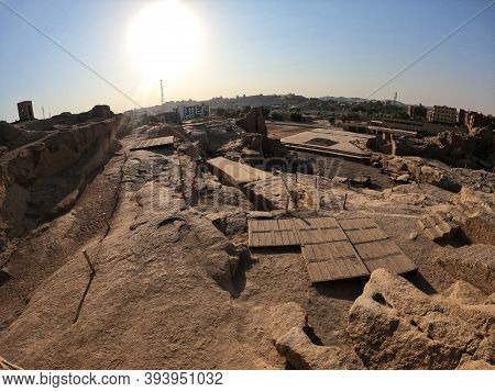 Ancient Ruins Around The Unfinished Obelisk In Aswan, Egypt
