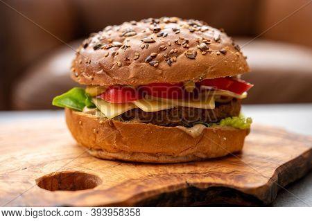 Fresh Made Vegan Burger, Healthy Food