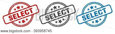 Select Stamp. Select Round Isolated Sign. Select Label Set