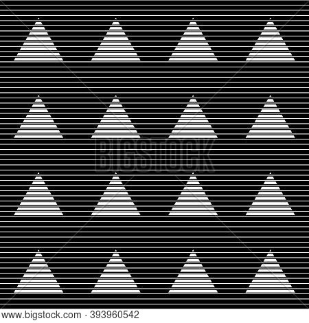 Lines, Stripes, Strokes, Triangles Seamless Pattern. Modern Ornate. Striped Image. Lined Background.