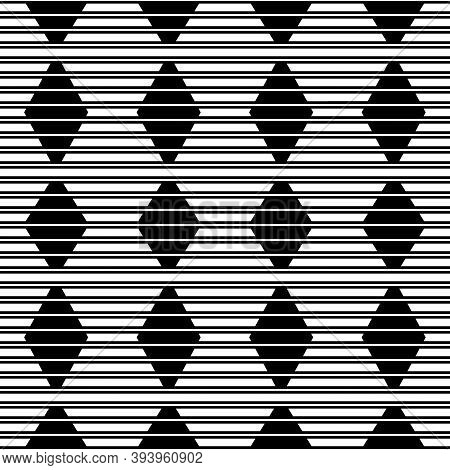 Lines, Stripes, Strokes, Diamonds Seamless Pattern. Abstract Wallpaper. Modern Ornate. Striped Image