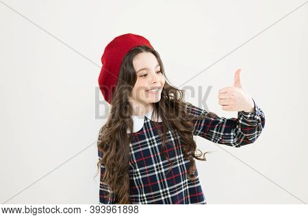 Awesome Choice. Girl Child Show Thumb Up Gesture. Kid Show Thumb Up. Girl Happy Highly Recommend. Sa