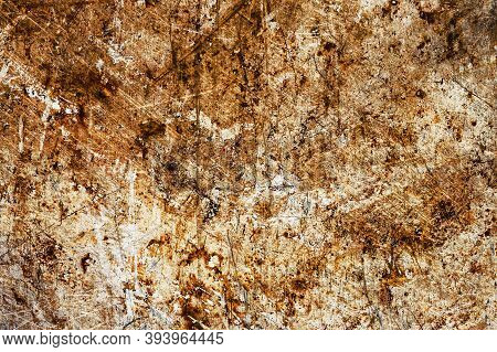 Rust Background. Metal Corrosion Texture. Grunge Steel Backdrop. Scratched Rusty Iron Sheet.