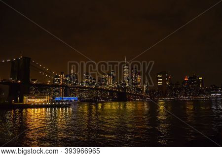 11/9/2020: A Landscape Capture Of The Brooklyn Bridge And New York City From Dumbo Park In Brooklyn,
