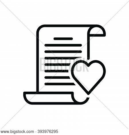 Black Line Icon For Poem Verse Love Poetry Parnassus Poesy Paeon Rhyme Sonnet Feather Calligraphy Le