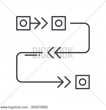 Agile Methodology Icon, Linear Isolated Illustration, Thin Line Vector, Web Design Sign, Outline Con