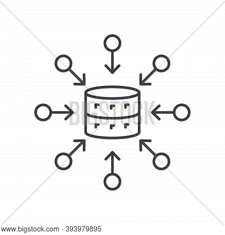 Aggregate Icon, Linear Isolated Illustration, Thin Line Vector, Web Design Sign, Outline Concept Sym