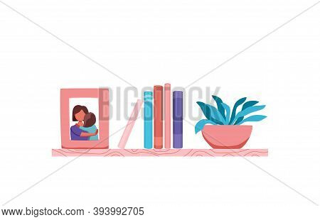 Bookshelves Vector Wall Design For Bestsellers In Store, Classroom, Office, Library, School, House I