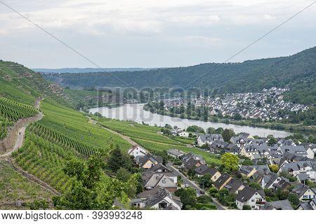 Famous German Wine Region Moselle River Winningen Village