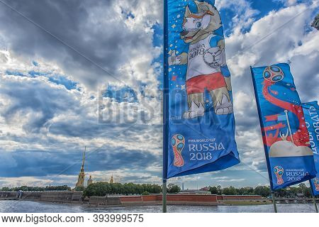 The Official Mascot Of The 2018 Fifa World Cup And The Fifa Confederations Cup 2017 Wolf Zabivaka On