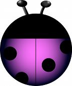 Purple lady bug drawn for a personal icon collection. poster