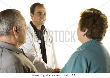 Senior Couple At Doctor's Consultation