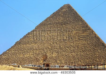 Pyramids Of Cheops And Chefre In The Desert Of Egypt