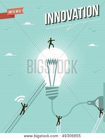 Innovation Idea Light Bulb Workgroup Illustration.