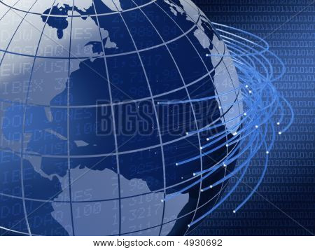 Global Telecommunications Background Design
