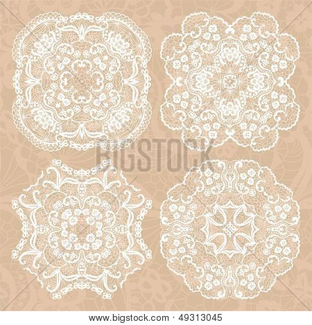 Set Of Lace Ornaments