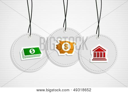 Hanging Savings Badges Set